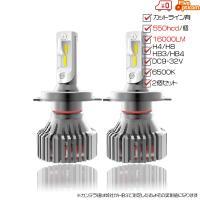 T8 LEDヘッドライト H4HiLo/H8/H11/HB3/HB4 2個セット 車検対応 LUMILEDS社ZESチップ 60W 16000LM 1100hcd 6500K DC9-32V 2年保証 送料無料