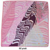 シルク100% 綾織 ツイル スカーフ スクエア― 中判 正方形 レディース マーブルデザイン 320