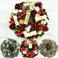 選べる クリスマス リースMサイズ アートフラワーリース 玄関飾り インテリア ナチュラルテイストのアートリース インテリア 飾り FKRSL