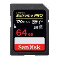 64GB SDXCカード SDカード SanDisk サンディスク Extreme Pro UHS-I U3 V30 4K R:170MB/s W:90MB/s 海外リテール SDSDXXY-064G-GN4IN ◆メ