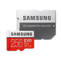 256GB microSDXCカード マイクロSD Samsung サムスン EVO Plus Class10 UHS-I U3 R:100MB/s W:90MB/s SDアダプタ付 海外リテール MB-MC256HA/APC ◆メ