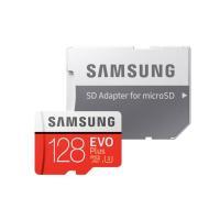 128GB microSDXCカード マイクロSD Samsung サムスン EVO Plus Class10 UHS-I U3 R:100MB/s W:60MB/s SDアダプタ付 海外リテール MB-MC128HA/APC ◆メ