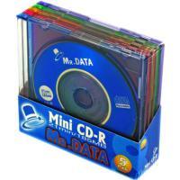 8cm(直径)サイズのミニCD-Rディスク 通常のCD-R(12cm、700MB)では余ってしまうよ...
