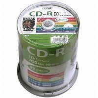 HIDISC データ用 CD-R 700MB 100枚入り スピンドルケース 52倍速対応 ワイドプリンタブル HDCR80GP100