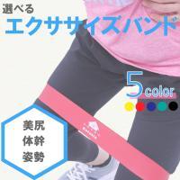 エクササイズ バンド トレーニング フィットネス インナーマッスル ゴム チューブ 体幹 美尻  シェイプアップ 強度別 5color