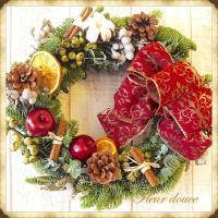 クリスマスリース オレゴン産モミのフレッシュ・クリスマスリース 35cm