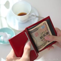 MYNUS FLIP UP WALLET slim(ワインレッド)栃木レザー スリム二つ折り財布|flgds|10