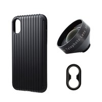 tokyo grapher Rib Case Package for iPhone XS/X(ブラック)Tele Lens|flgds