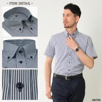 メール便送料無料 ワイシャツ メンズ 長袖 半袖 形態安定 ホリゾンタル ボタンダウン レギュラーカラー 二重襟 カッターシャツ スリム yシャツ