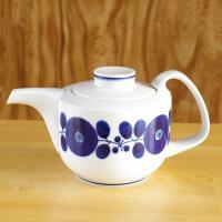 白山陶器を代表する人気シリーズ ブルームのティーポットです。  レトロモダンな形に、コバルトブルーの...