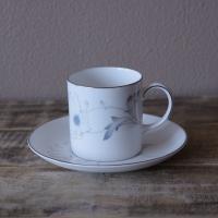 スージークーパー ホワイトウェディング 花柄 コーヒーカップ ソーサー Susie Cooper #200221-1~6