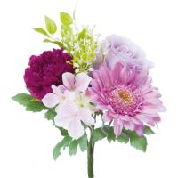 アートフラワー ローズミックスブッシュ パープル @350x10コセット FB -2477 PU 《2018ds》 | 造花 お手入れ不要 アレンジ ブッシュタイプ 花材