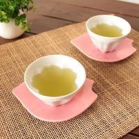 桜が浮かび上がる サクラカップ      (和食器 白い食器 煎茶 湯呑み デザートカップ サクラ湯呑み 可愛い煎茶 日本製 アウトレット込み商品)