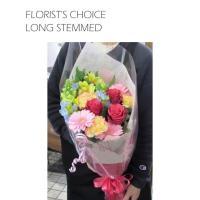 誕生日プレゼント 花 季節のお花たっぷりおまかせ長い形の花束
