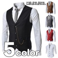 商品コード:vest-3 生地:コットン カラー:画像通り ブラック、ブラウン、グレー、レッド、ホワ...