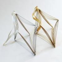 おしゃれなワイヤークロスのオーナメントです。 シンプルでかわいい北欧風のデザインです。インテリアのち...