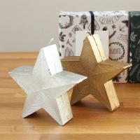 おしゃれな星型のキャンドルです。 シンプルでかわいい北欧風のデザイン。インテリアのちょっとしたアクセ...