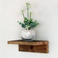 リサイクルウッド ウォールシェルフM 木製シェルフ  壁掛けシェルフ 壁掛け飾り棚  飾り棚 壁掛け...