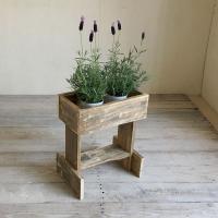 リサイクルウッド フラワースタンドS 花台 木製  玄関 ベランダ ガーデン 天然木製 玄関 木製花...