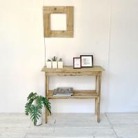 送料無料 リサイクルウッド コンソールテーブル コンソール 木製テーブル 飾り棚 キャビネット キッ...