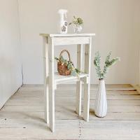リサイクルウッド コンソールテーブル ミニ1 ホワイトコンソール 木製テーブル 飾り棚 キャビネット...