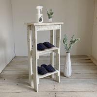 リサイクルウッド コンソールテーブル ミニ2 ホワイト コンソール 木製テーブル 飾り棚 キャビネッ...