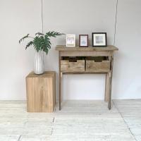 送料無料 リサイクルウッド エントランスコンソールテーブル36 コンソール 木製テーブル 飾り棚 キ...