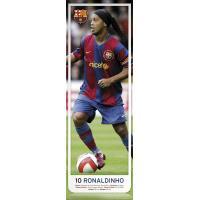 ロナウジーニョ(バルセロナ) ドア・ポスター 158cmの長いポスターで、より実際の選手に近いサイズ...