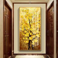 油絵 絵画 寝室 玄関 飾り 壁掛け インテリア美術品 風景絵 木の絵 印象派額装