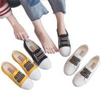 スニーカー レディース シューズ 靴 フラット スリッポン 歩きやすい   シンプル バイカラー らくちん 靴 フラットシューズ