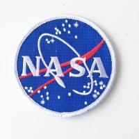 NASA ナサ  ワッペン 刺繍ワッペン  直径:9センチ   ポリエステル糸