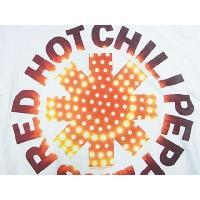 RED HOT CHILLI PEPPERS レッド ホット チリペッパーズ LED ASTERISK ホワイト メンズ バンドTシャツ ロックTシャツ