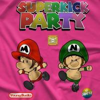 ヤングバックス Tシャツ「The Young Bucks Superkick Bros (Pink) Tシャツ」【アメリカ直輸入プロレスTシャツ 大きいサイズ(XXL 3XL 4XL)もあり】