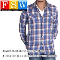 ユーズド感のある人気のチェックシャツ!  夏はロールアップ5分丈に!  サイズはM〜5L(4L程度)...