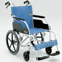 アルミ製スタンダードタイプ介助用車椅子 ECO-301  ・サイズ 全幅59.5(30)×全長95×...