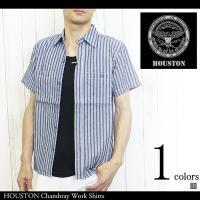 HOUSTON ヒューストン メンズ トップス シャツ 半袖 ワークシャツ シャンブレー 春 夏 1808