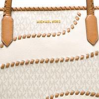 マイケルコース トートバッグ Michael Michael Kors  Nouveau Hayley Large East West Signature Top Zip Tote (Vanilla) ラージ トートバッグ (バニラ)