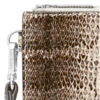 マイケルコース スマートフォンウォレット Michael Michael Kors  Snakeskin Phone Wristlet (Natural) スネーク スマホ リストレット 財布 (ナチュラル)