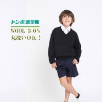 【 学生服のトンボ スクールセーター】ウール30% 丸洗いOK 小学生 ニット 中学生 ウール 毛玉になりにくい 頑丈 スクール セーター 送料無料 TOMBOW