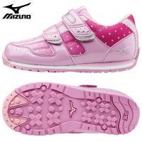 「ミズノ(MIZUNO) 子供靴(キッズシューズ) ビーズキララ3 ピンク×シルバー 18.0cm」...