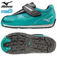 「ミズノ(MIZUNO) 子供靴(キッズシューズ) ワイルドキッズスター3 グリーン×シルバー 19...