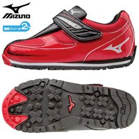 「ミズノ(MIZUNO) 子供靴(キッズシューズ) ワイルドキッズスター3 レッド×シルバー 16....