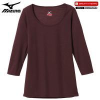 「ミズノ(MIZUNO) ブレスサーモ エブリ ラウンドネック7分袖シャツ C2JA5802 女性用...