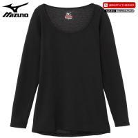 「ミズノ(MIZUNO) ブレスサーモ エブリプラス ラウンドネック長袖シャツ C2JA6841 女...