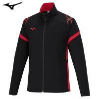 「ミズノ(MIZUNO) ジャージ ウォームアップシャツ 32JC7010 ブラック×チャイニーズレ...