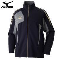 「ミズノ(MIZUNO) ジャージ ウォームアップシャツ 32JC7010 ディープネイビー×グレー...