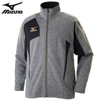 「ミズノ(MIZUNO) ジャージ ウォームアップシャツ 32JC7010 グレー杢×ブラック XL...