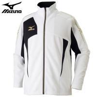 「ミズノ(MIZUNO) ジャージ ウォームアップシャツ 32JC7010 ホワイト×ブラック M」...