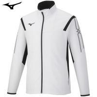 「ミズノ(MIZUNO) ジャージ ウォームアップシャツ 32JC6010 ホワイト×ブラック S」...