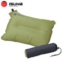 「イスカ(ISUKA) ノンスリップピロー オリーブ」は、自動膨張式のエアピロー(枕)です。背面の滑...